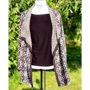 SISTERS Cardigan Sweater Topper S/M Metallic Long